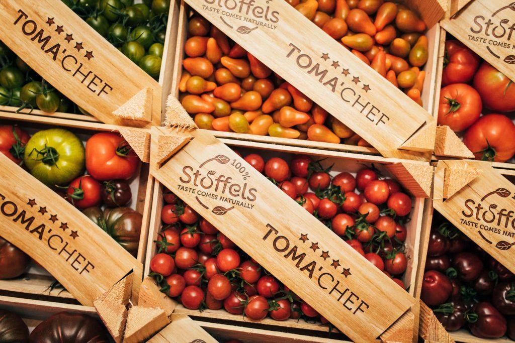 verse groenten en fruit op event op fruitveiling