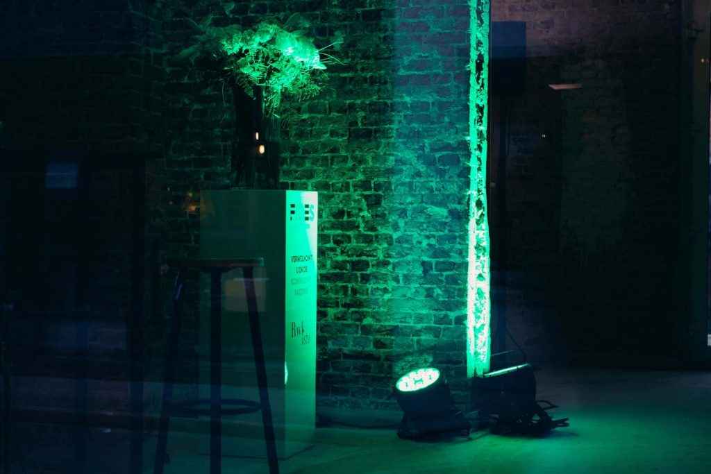 sfeerverlichting lanceringsevent Rijkswachtkazerne